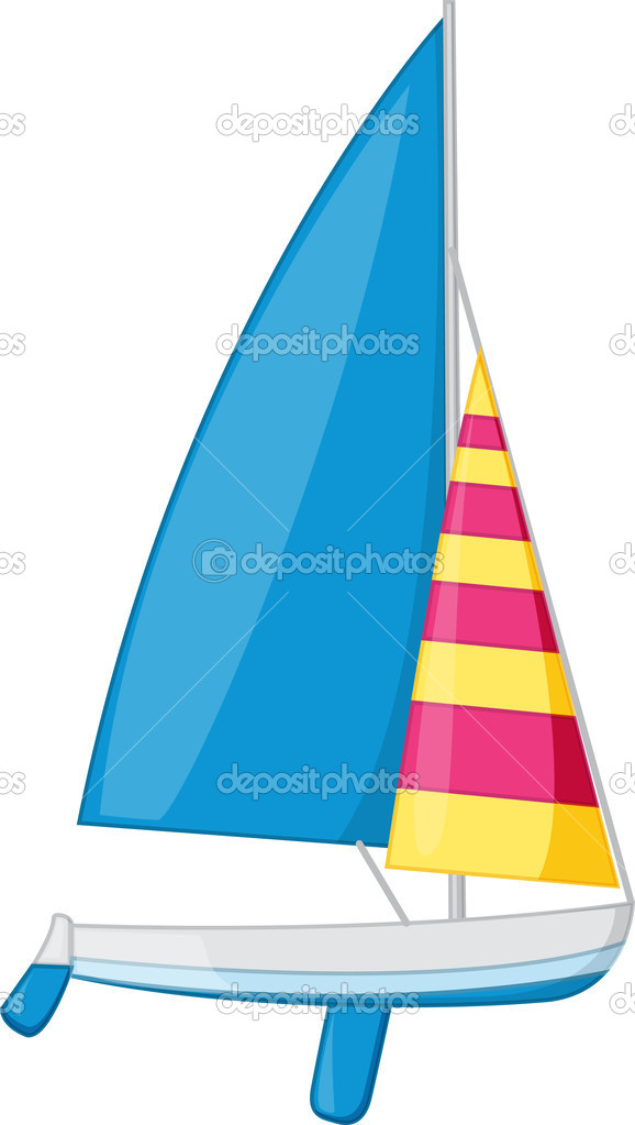 An illustration of a sail boat — Stock Vector #10276415