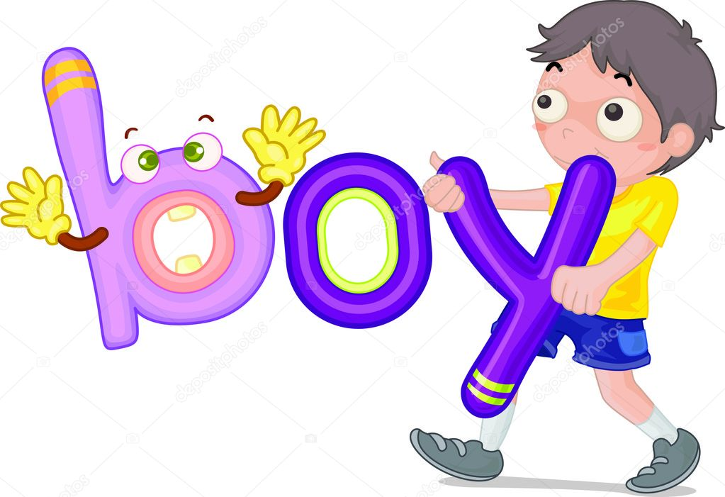 Illustration of b for boy  Stock Vector #10276443