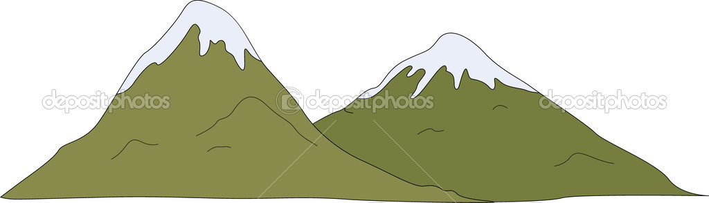 Illustration of a snow-capped mountain — Stock Vector #10276876