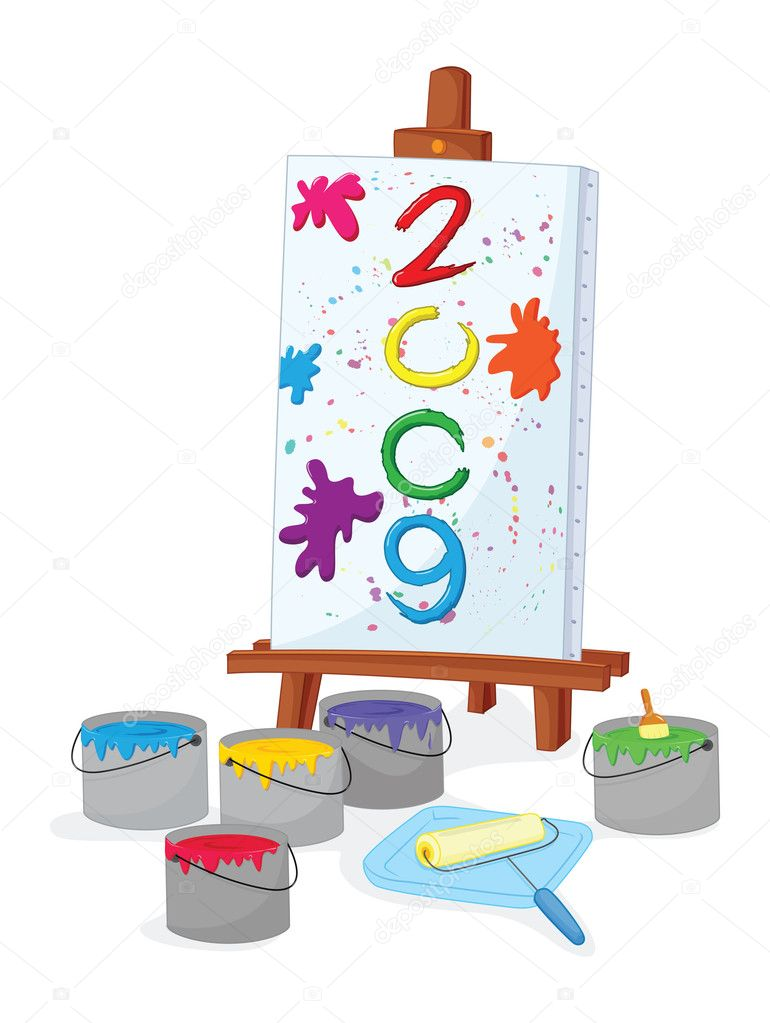 An illustration of a '2009' banner — Stock Vector #10277663