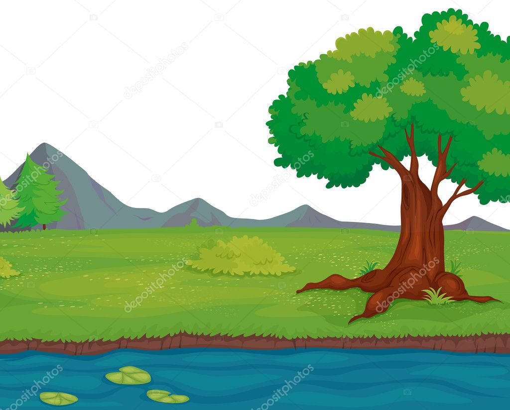 Illustration of an empty rural landscape — Stock Vector #10278011