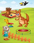 Animal playground — Stock Vector