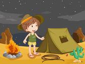 Camper — Stock Vector