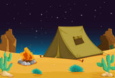 Camping at night — Stock Vector