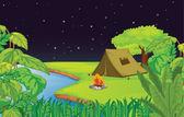 Camping — Stock Vector