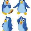 Stock Vector: Penguins