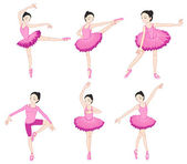 Ballerina set — Stock Vector
