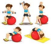Fitness series — Stock Vector