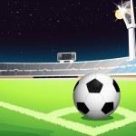 Futbol gece — Stok Vektör