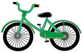 Small green bike — Stock Vector