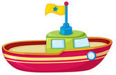 Toy boat — Stock Vector