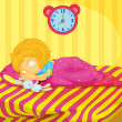 Girl sleeping - Stock Vector