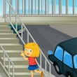 Using the overpass — Imagen vectorial
