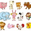 Cartoon animals — Image vectorielle