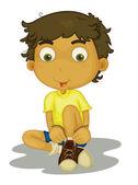 Boy sitting — Stock Vector