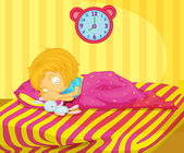 Girl sleeping — Stock Vector