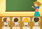 Classroom — Vector de stock