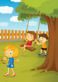 In the park — Stock Vector