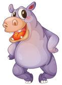 Hip hippo — Stock Vector