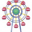 Ferris wheel - Stock Vector