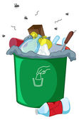 脏 bin — 图库矢量图片