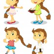 Cute girl - Stock Vector