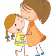 Sisters — Stock Vector