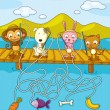 Royalty-Free Stock Vector Image: Fishing worksheet