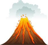 Erupt — Stockvector