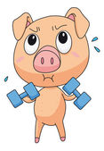 Fit pig — Stock Vector