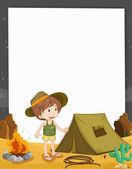 Camping kid — Stock Vector