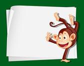 Crazy monkey — Stock Vector