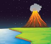 Vulkan — Stockvektor