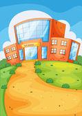 School building — Stock Vector