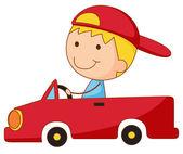 Kid in a car — Stock Vector