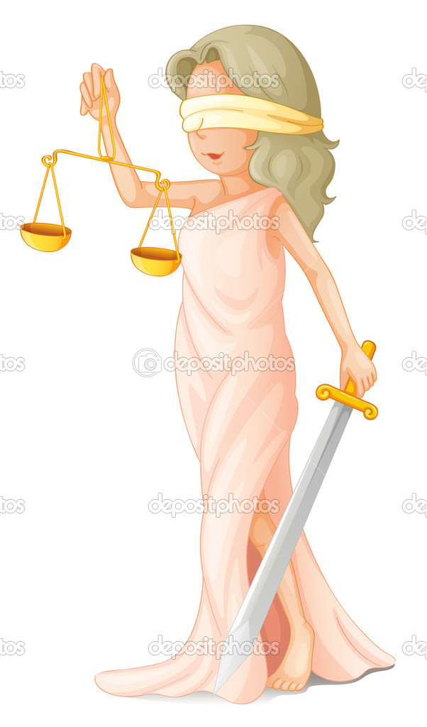 Illustration of blind justice concept — Stock Vector #10630972
