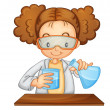 Stock Vector: Scientist