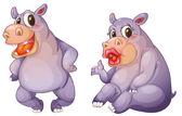 Hippos — Stock Vector