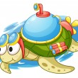 Turbo turtle - Stock Vector
