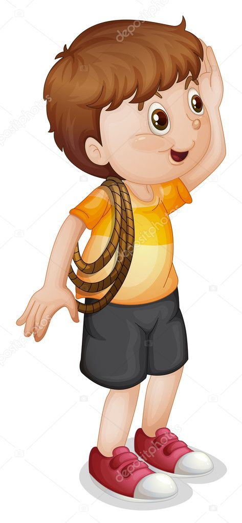 Illustration of a boy with rope — Stock Vector #10655008