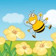 Happy bee — Stock Vector