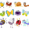 Illustration of a group of bugs — Stock Vector #10672555