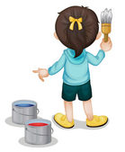 Construction kid — Stock Vector
