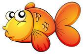 Tropical orange fish — Stock Vector