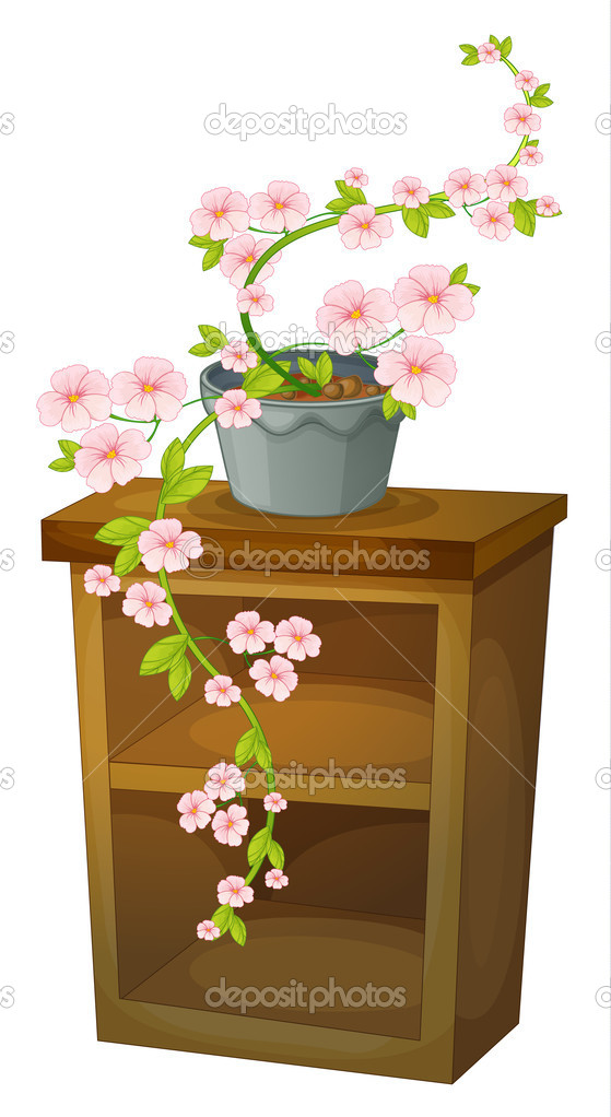 Illustration of a blossom on a shelf — Stock Vector #10672572