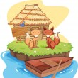 Royalty-Free Stock Vector Image: Fox cabin