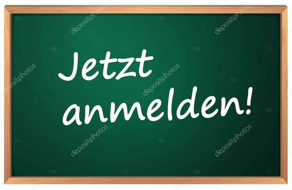 Illustration of Jetzt anmelden sign — Stock Vector #10714180
