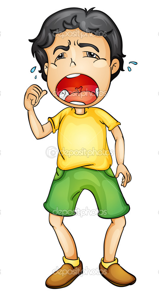 Boy crying — Stock Vector © interactimages #10714198