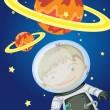 Astronaut in space — Stock Vector