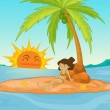 Deserted island — Stock Vector